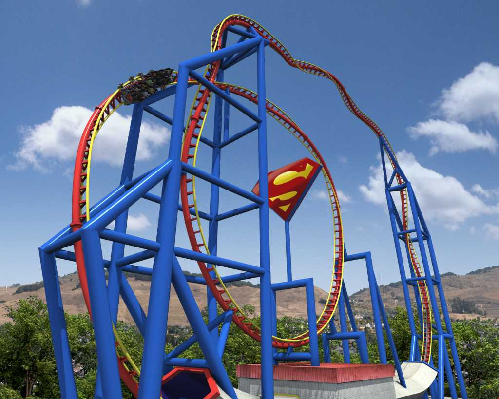 Superman Ultimate Six Flags Roller Coaster