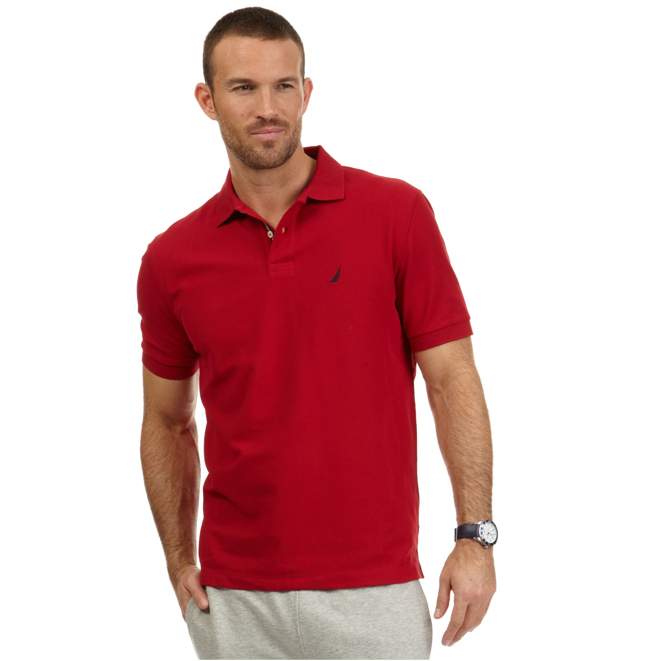 "Short sleeve button ups always seem to lean towards either ""Dwight Shrute"" or ""18 year old Urban Outfitters employee,"" and t-shirts are only an option in the most casual of workplaces. We've put together a list of what we consider the best polos for men, and to sweeten the deal, they're all under $"