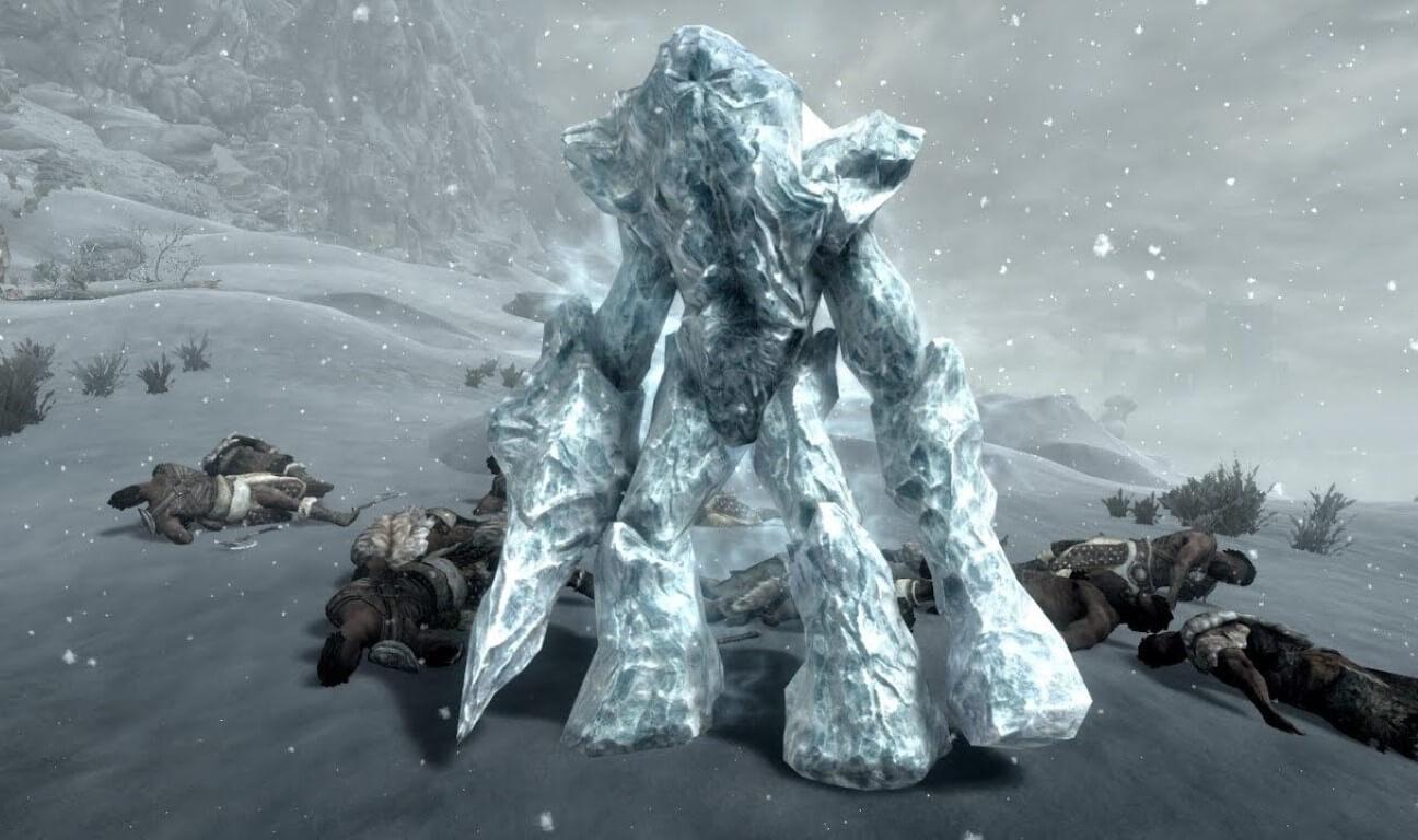 Conjure Frost Atronach spell skyrim