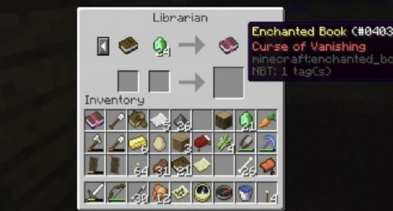 Curse of Vanishing Crossbow Enchantments Minecraft