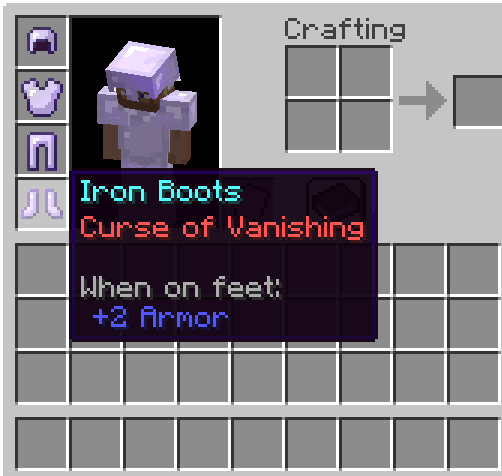 Curse of Vanishing bow enchantments minecraft