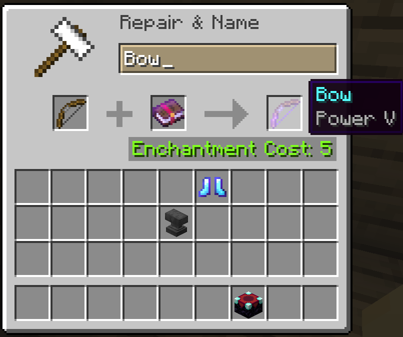 power bow enchantments minecraft