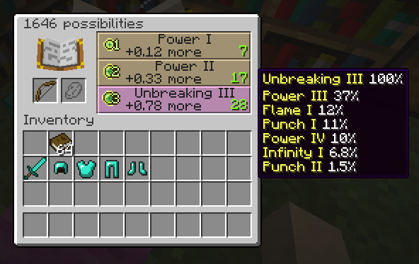 punch bow enchantments minecraft