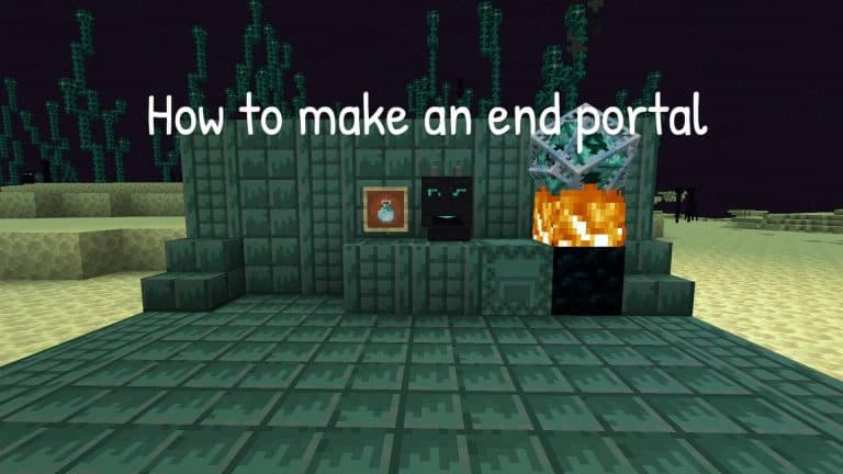 How to make an end portal